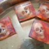 skull embed inside The White Rose artisan soap
